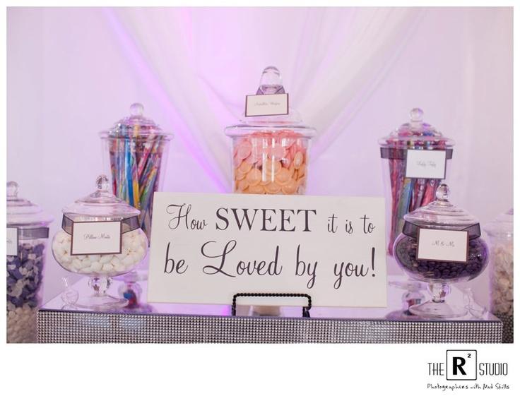 Custom Candy Bar Wood Sign Wedding Signs As Seen On TLCs Four Weddings