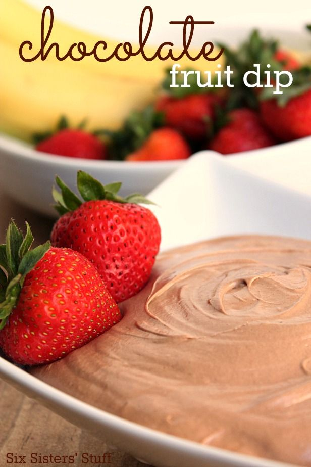 This delicious Chocolate Fruit Dip only has 3 ingredients! IT's one of our summer favorites!