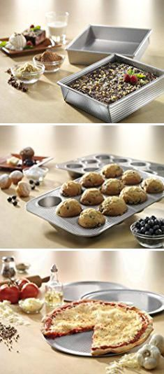 8x8 Cake Pan. USA Pan Bakeware Square Cake Pan, 8 inch, Nonstick & Quick Release Coating, Made in the USA from Aluminized Steel.  #8x8 #cake #pan #8x8cake #cakepan
