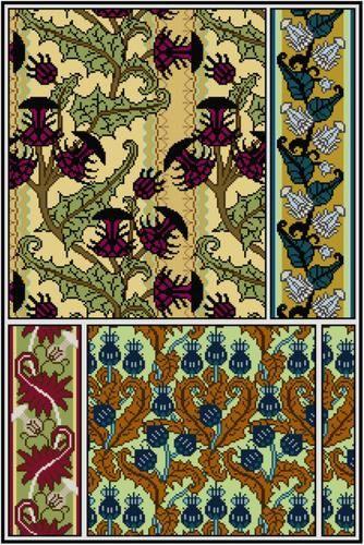 Ist es ein Unkraut oder eine Blume? Hübsche Löwenzahn in einem floral Panel aus einem historischen Entwurf ca. späten 1890er Jahren angepasst. ... 4