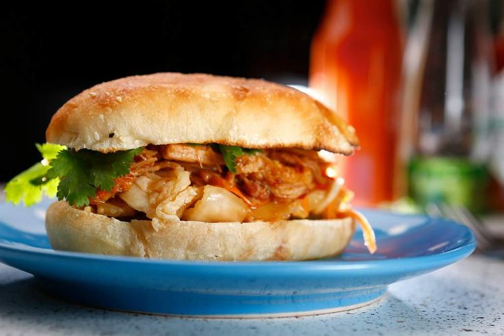 How to make pulled pork ... recipes for the barbecue and stovetop. Pictured is a pulled pork bun with Vietnamese slaw. Or try the BBQ method with Carolina barbecue sauce. You choose!