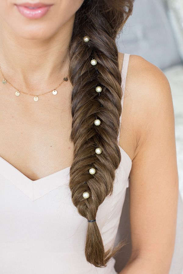 hair braiding styles with hair fishtail braid with pearl hair accessories click to learn 5984