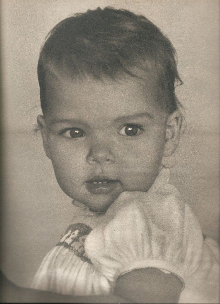 Princess Caroline of Monaco as a baby.