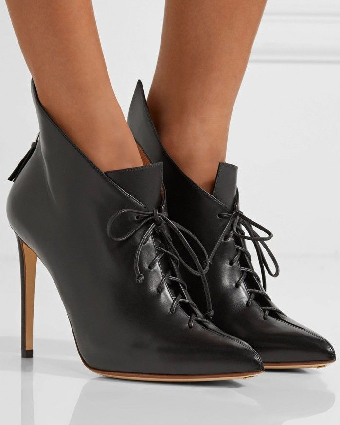 FRANCESCO RUSSO Lace-up leather ankle boots | Buy ➜ https://shoespost.com/francesco-russo-lace-leather-ankle-boots/