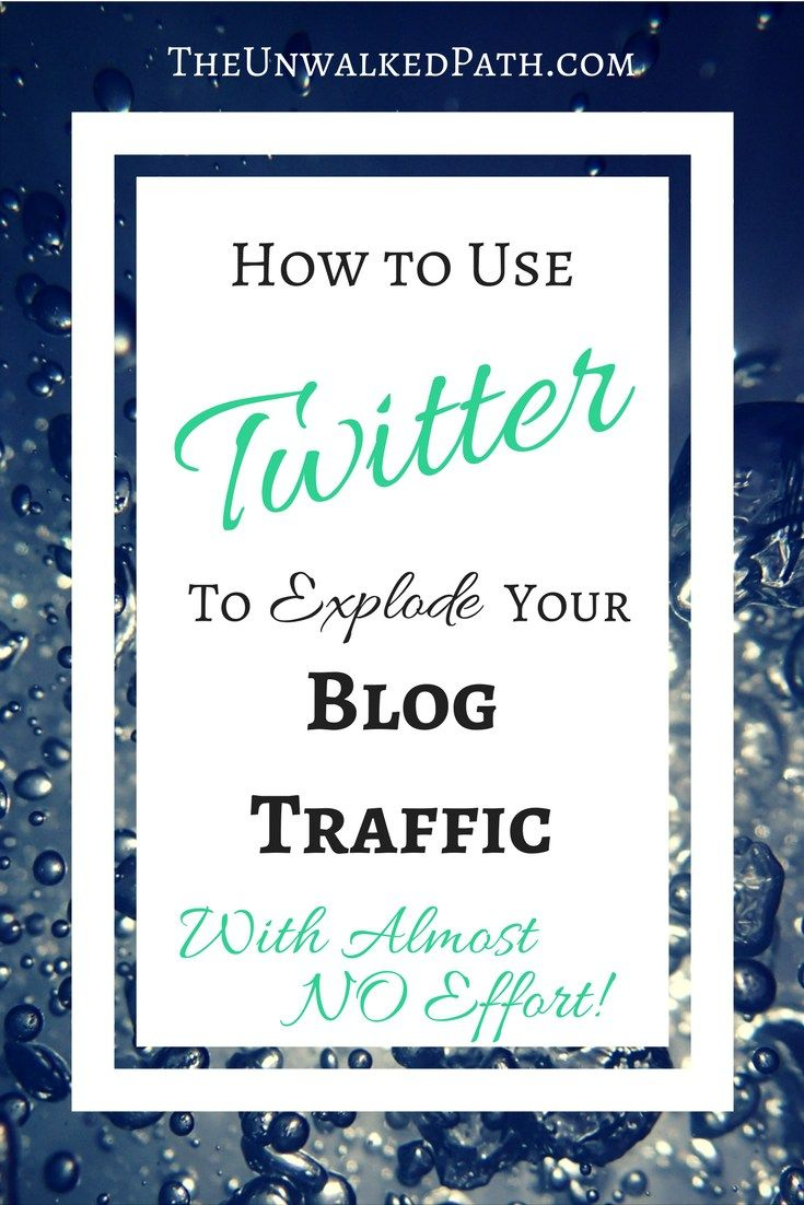 The Simple, low-effort way to boost your blog traffic through twitter!