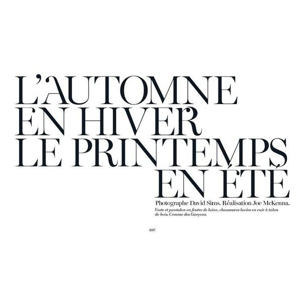 "VOGUE PARIS Janice Alida in ""L'automne en Hiver le Printemps en ete""... ❤ liked on Polyvore featuring magazine and text"