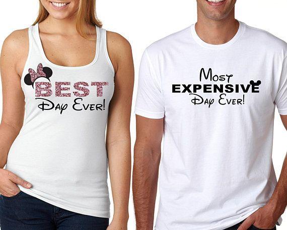 Disney Couple Shirts, Best Day Ever, Disney Best Day Ever, Disney Most Expensive Day Ever,Disney Family Shirts,Disney Shirts, Disney Tank Welcome to m…