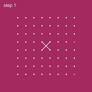 Dot Rangoli Step 1
