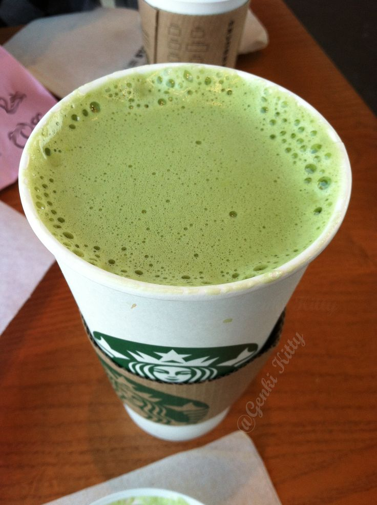 Starbucks Green Tea Latte made with coconut milk