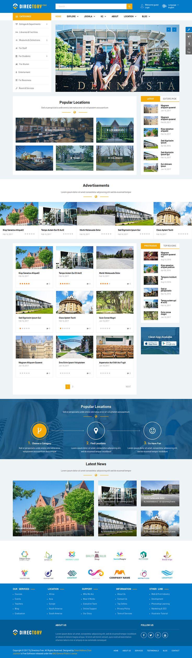 19 best Free Joomla Templates images on Pinterest | Joomla templates ...