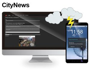 Holen Sie sich City (City) Service, News, Business & Club Informationen mit CityHub municipal app!  ☎ Rufen Sie uns an: 07422 2454 - 670 ✔ Besuchen Sie uns: http://chs-softfolio.de/produkt/ ✉️ Schreiben Sie uns eine E-Mail: info@CityHub-DE.com