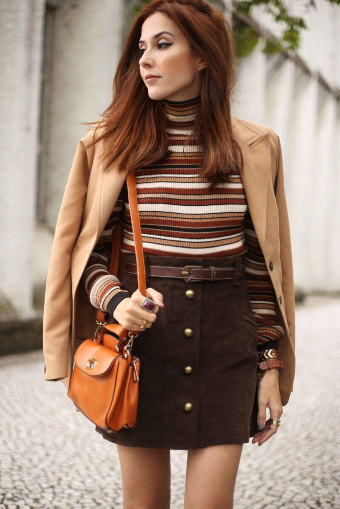 c79ee8e6645 FashionCoolture - 22.08.2016 look du jour Amaro sale caramelo bolsa camel  coat striped top (3)