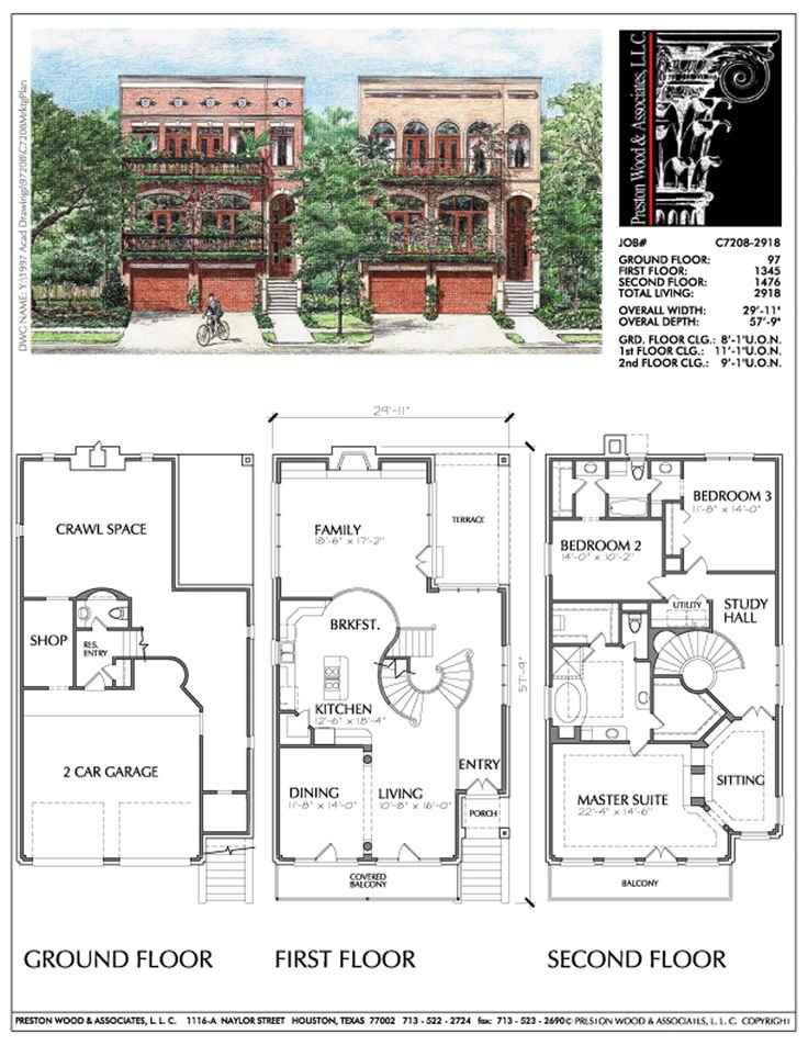 104 Best Townhouse Floor Plans Images On Pinterest
