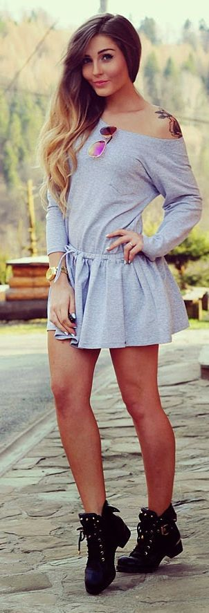Little Grey Inspiration Dress                                                                             Source