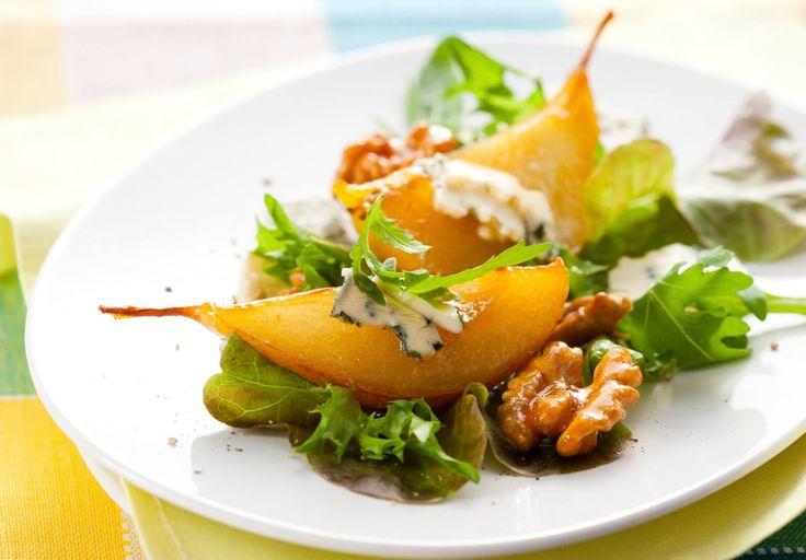 Roasted Pear and Walnut Salad