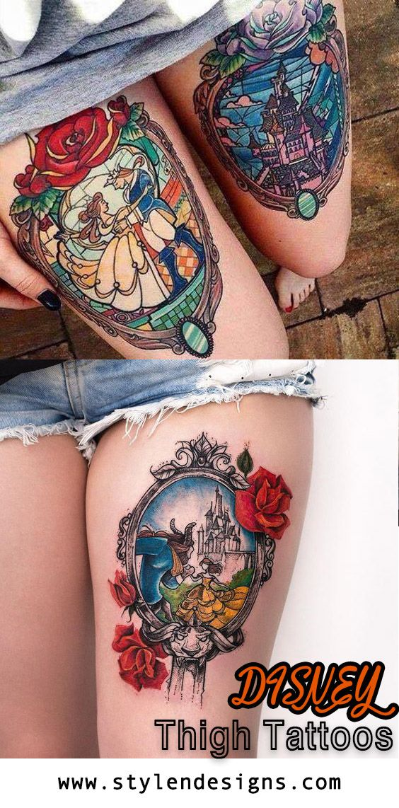 nice 21 Most Attractive Thigh Tattoos For Women