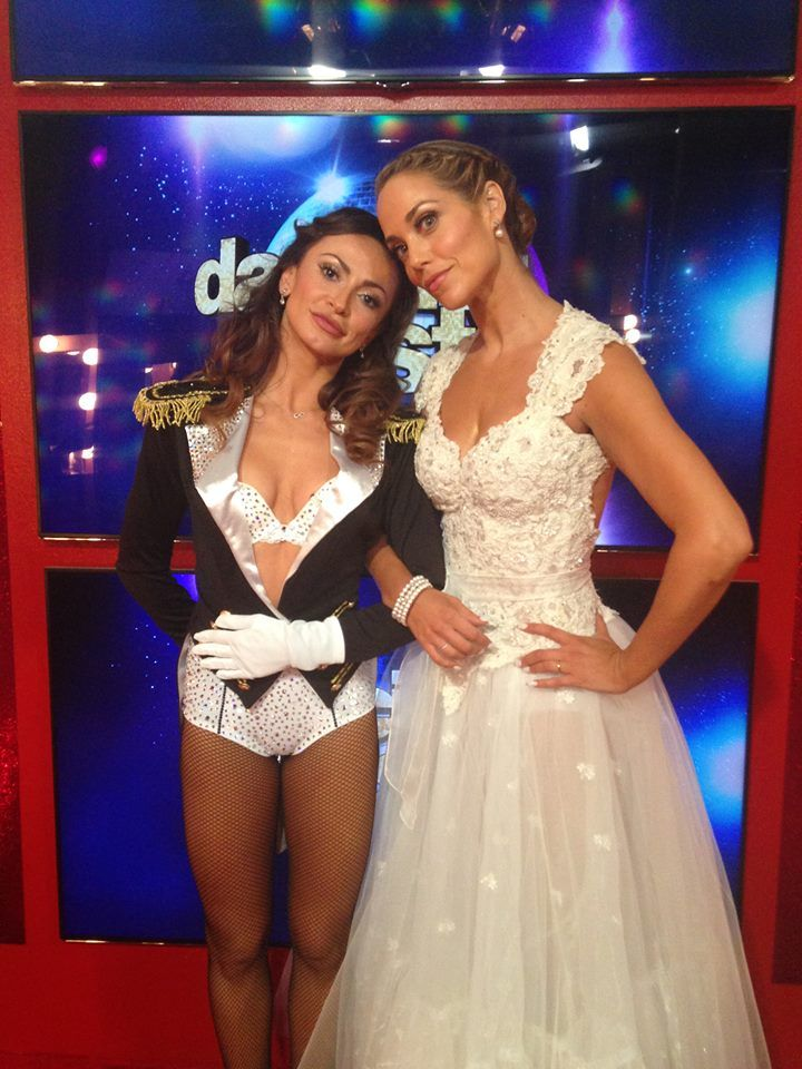 Backstage with Karina and Elizabeth! Whose dance are you loving most so far tonight? #DWTS