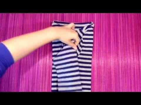 COMO DOBLAR UNA CAMISETA DE CUELLO VUELTO MARIE KONDO * how to fold a  polo neck konmari - YouTube