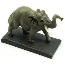 Male Elephant /w Tusks on Base Q484-01-36946