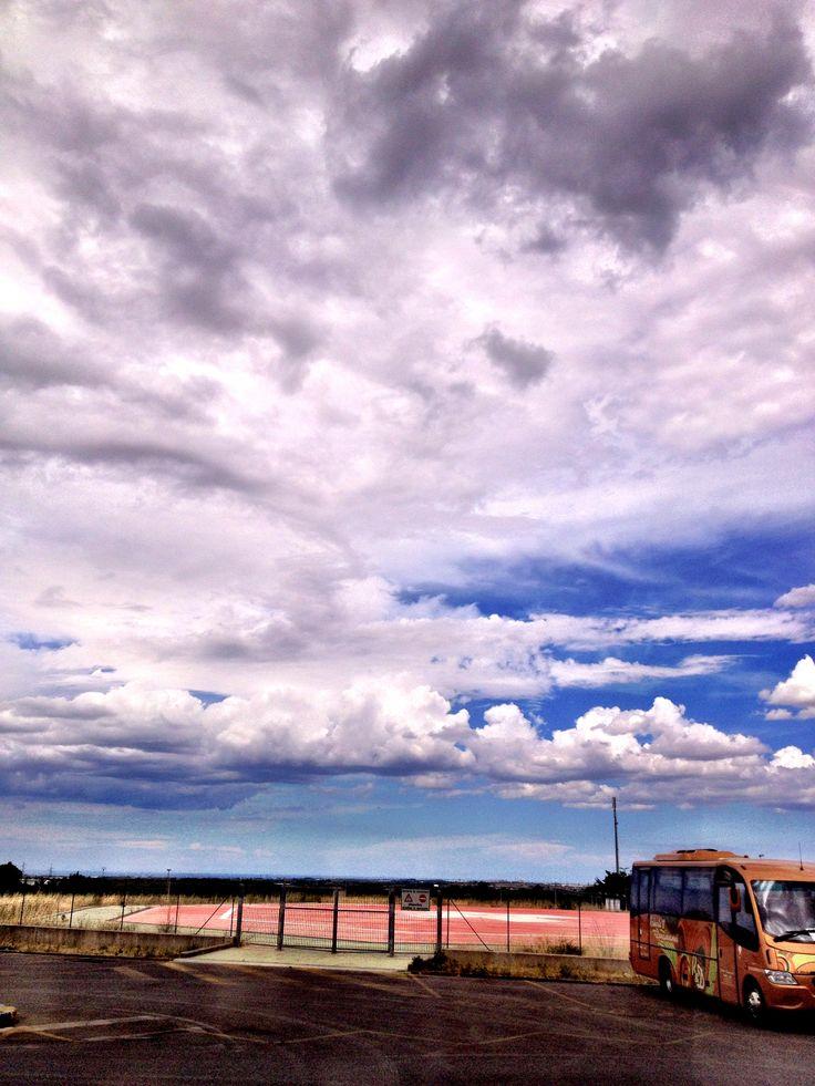 The Sky above the airstrip Ospedale Miulli Acquaviva delle Fonti