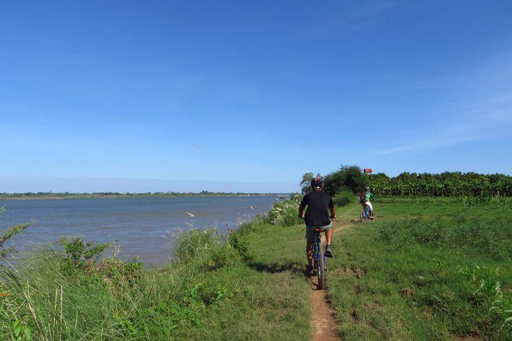 Biking along the Mekong