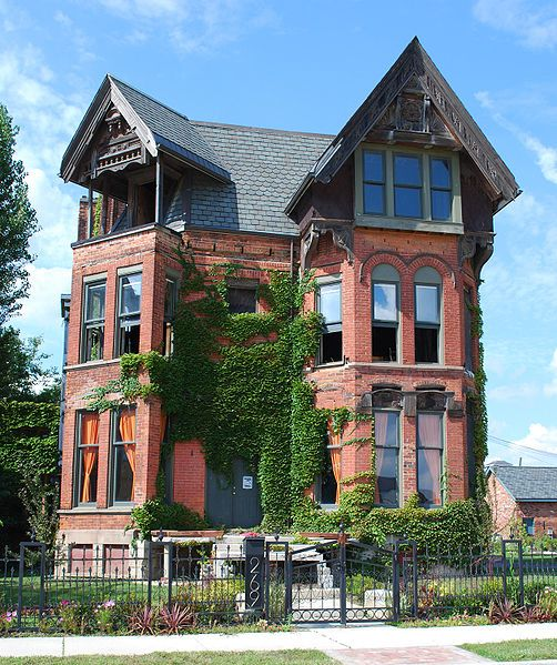 George Ladve House, Detroit. c. 1882. Eastlake Victorian style