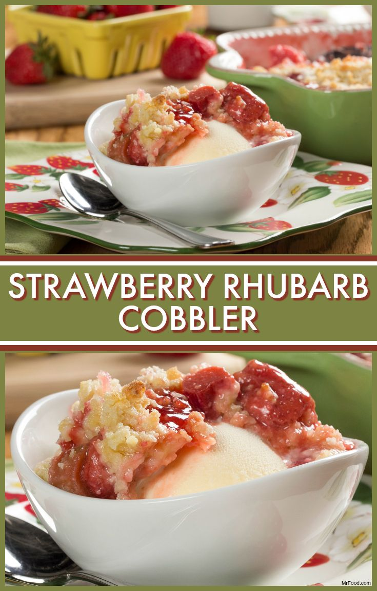 When you've got fresh rhubarb in the spring, it's time to make Strawberry Rhubarb Cobbler! (Of course, you can make it with frozen rhubarb too!)