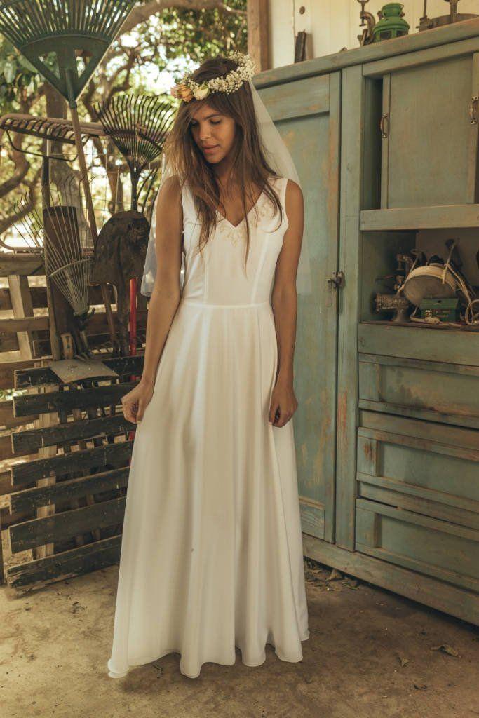 Simple wedding dress, Hippie wedding dress, Romantic wedding dress, Romantic wedding gown, Sheath wedding dress, Edwardian wedding dress