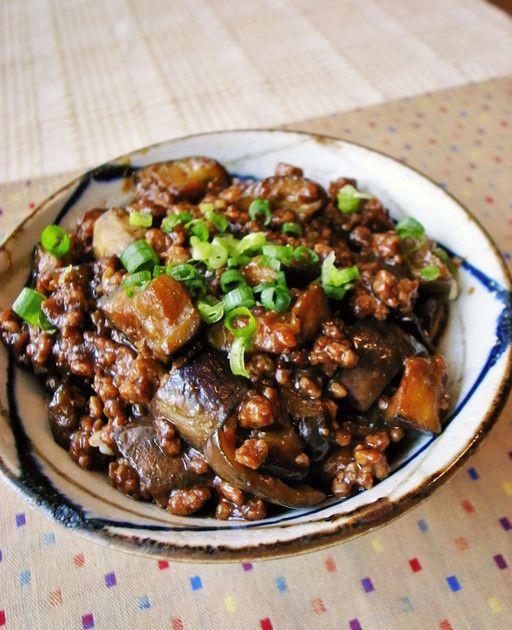 ご飯がっつり!ナスと豚ひき肉の甘味噌丼 by moj [クックパッド] 簡単おいしいみんなのレシピが219万品