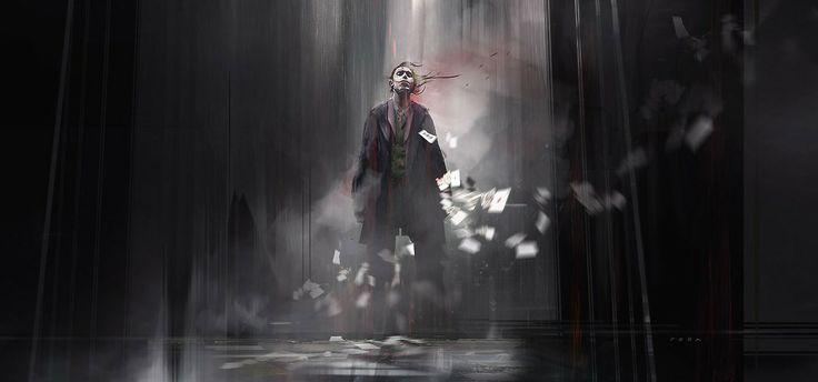 The Joke - Batman fan art by Eduardo Peña