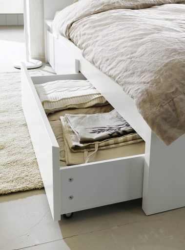 Ikeau0027s Malm Under Bed Storage Bins Can Make A Regular Bed Look Like It Has Part 97