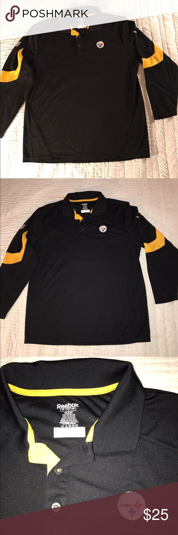 Selling this Steelers fans this is for you! Long sleeve polo. on Poshmark! My username is: dlewis111. #shopmycloset #poshmark #fashion #shopping #style #forsale #NFL #Other