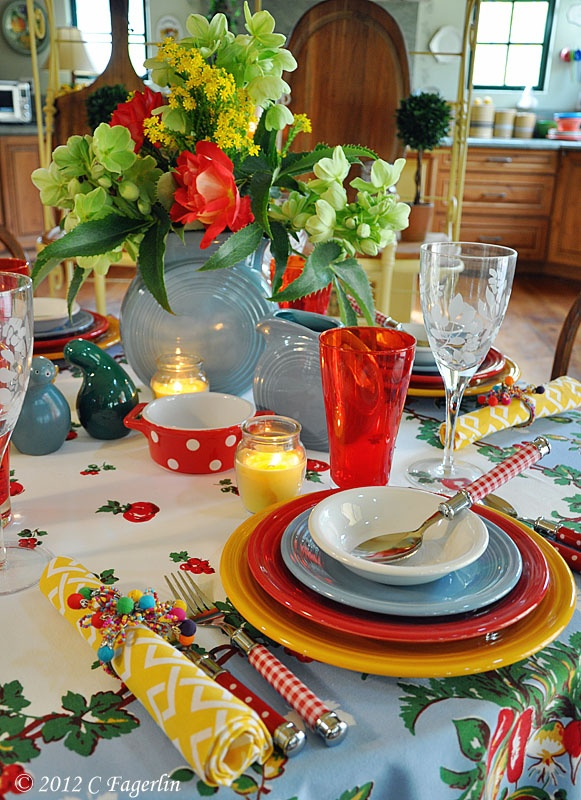 I LOVE This Fiesta Table Setting!