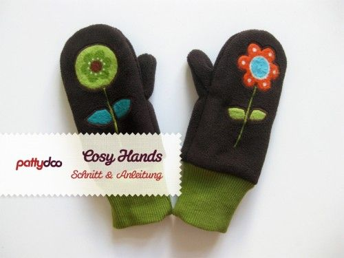 Children gloves sewing instructions and patterns