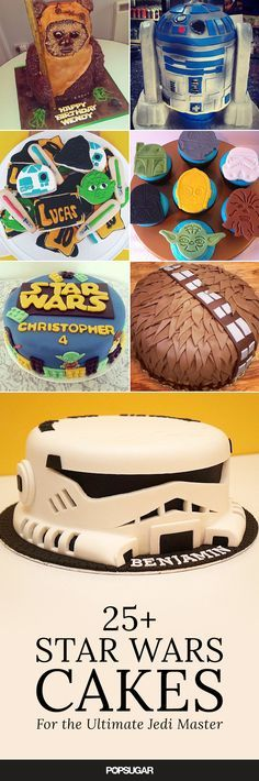 The most amazing Star Wars cakes for your kiddo's birthday party. Yumz I want a cake like that....Probably taste a little 'hairy' though.. Haha I like making puns