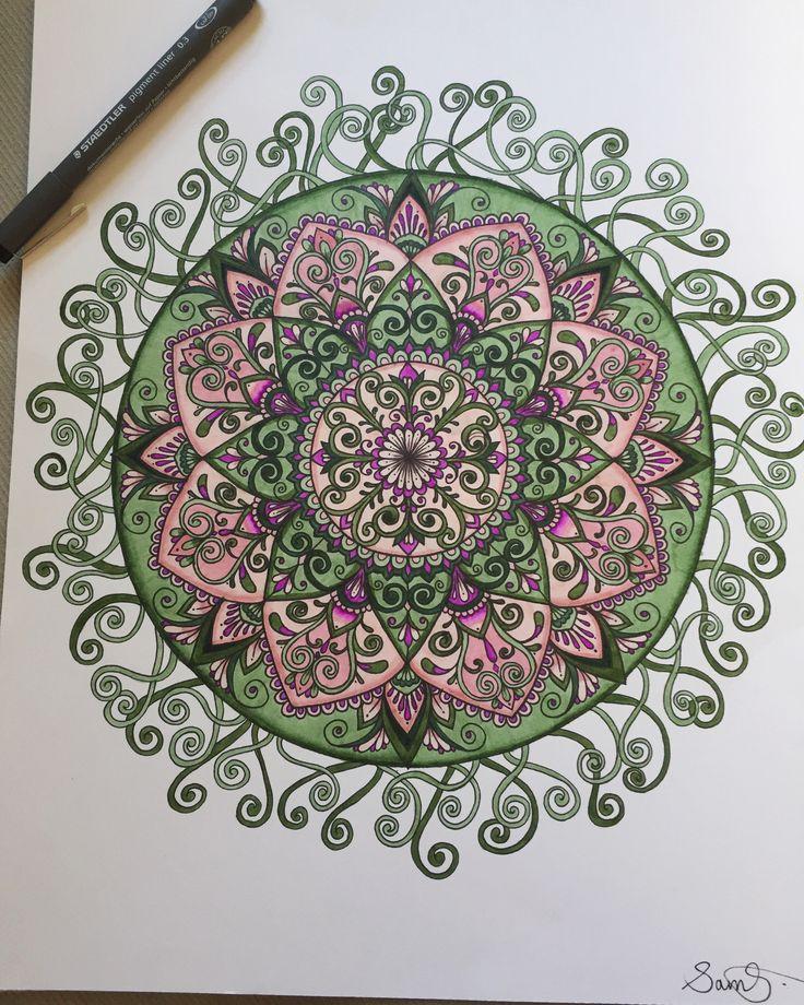 Gorgeous mandala inspired drawing by @samschroederart