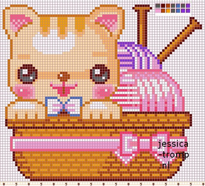 Cute Cat Cross Stitch Patterns