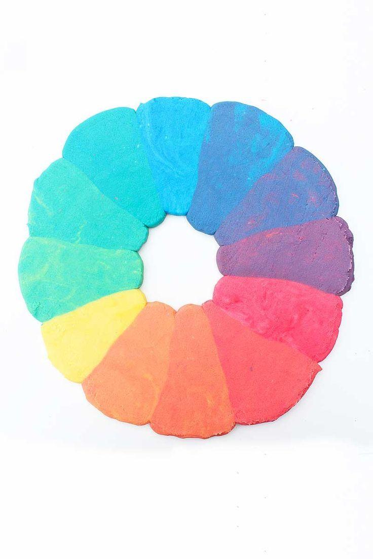 Rainbow Color Wheel Layer Cake Fabric