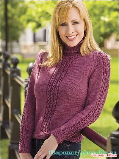 Предлагаю вашему вниманию две модельки Вот этот симпатичный пуловер И этот жакетик