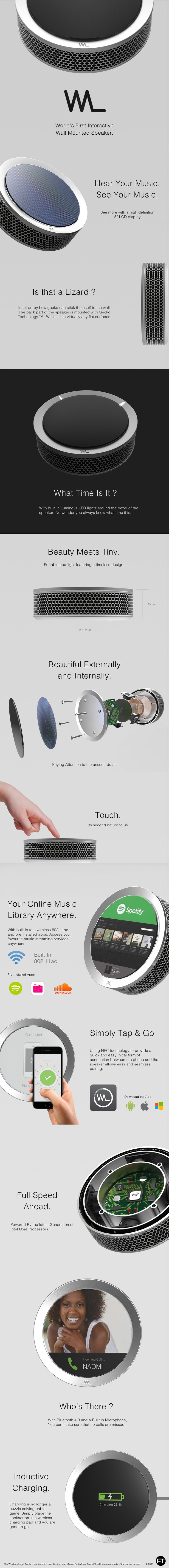 Industrial Design Project of a Wall mounted Speaker                                                                                                                                                     More