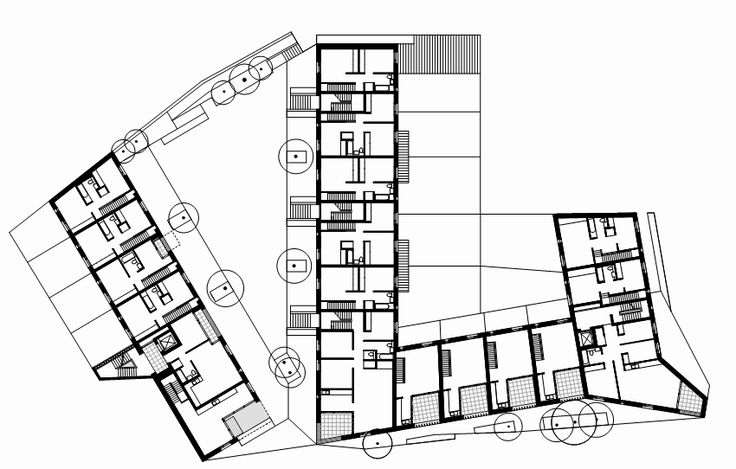Timberyard Social Housing / O'Donnell + Tuomey Architects - 1st floor plan