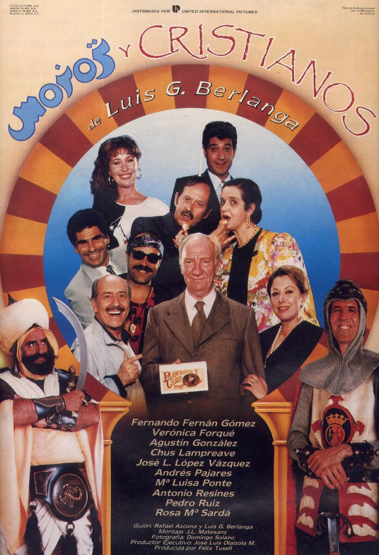 """""""Moros y Cristianos"""", Luis Garcia Berlanga, 1987.  Con Fernando Fernán-Gómez, Verónica Forqué, Andrés Pajares, Antonio Resines..."""