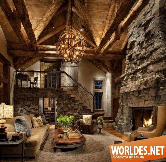 Уютные гостиные в деревенском стиле фото 42