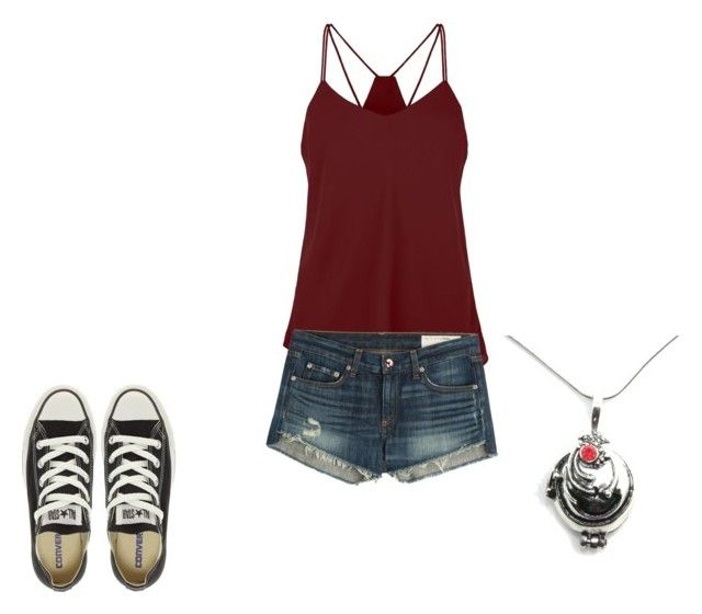 """The Vampire Diaries Elena Gilbert Summer Inspired Outfit"" by camemckeith on Polyvore featuring rag & bone and Converse"