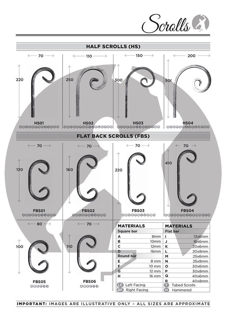 Flat Back C Scrolls & Half Scrolls