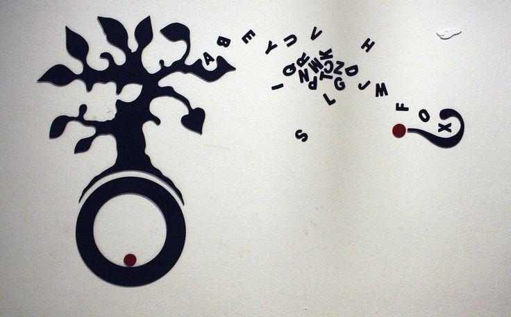 """the tree"" - wall decoration - wood cut"