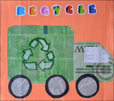 Recycling Truck / Newspaper Art (from Crafts 'n' Things for Children)