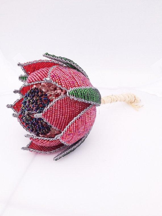Beaded Protea Bouquet by TheLoveBucketSA on Etsy, $50.00