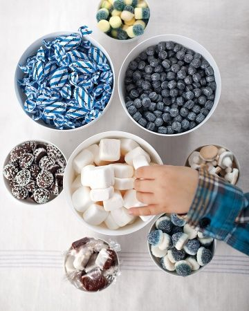 The Sweets of Sweden.  A selection of Scandinavian candies included salted licorice pastilles, chocolate nonpareils with arrack liquor, and Swedish marshmallows called sockerbitar.