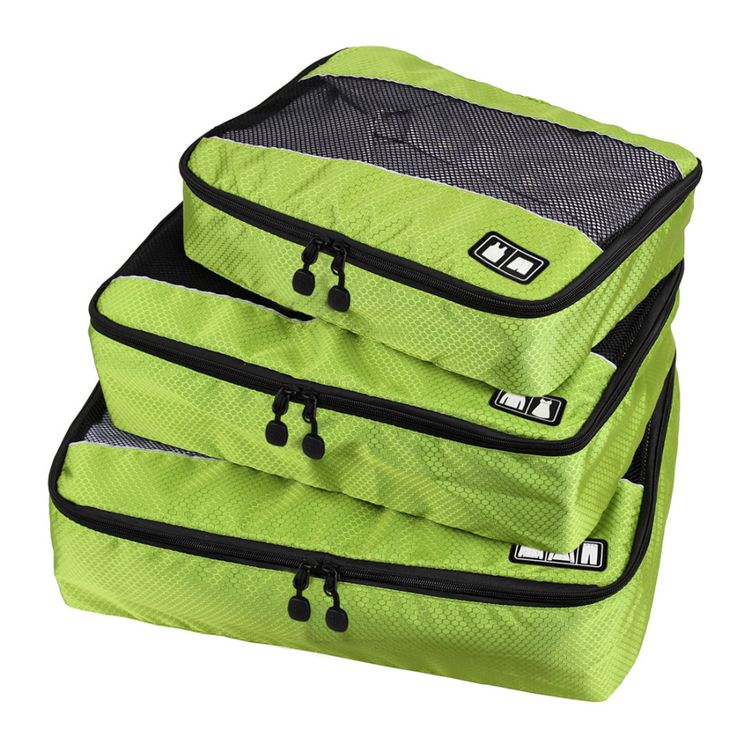 3 Pcs/Set Unisex Nylon ▼ Packing Cubes For Clothes Lightweight Luggage Travel Bags ① For Shirts Waterproof Duffle Bag Organizers3 Pcs/Set Unisex Nylon Packing Cubes For Clothes Lightweight Luggage Travel Bags For Shirts Waterproof Duffle Bag Organizers